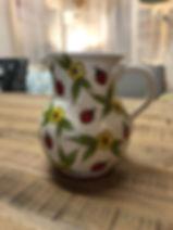 Pichet coccinelle poterie Forcalquier