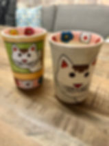 Verre tasse à café chat poterie Forcalquier