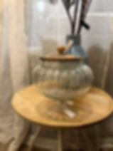 Bonbonnière avec son couvercle bois Forcalquier