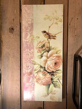 Cadre fleurs et oiseaux Forcalquier