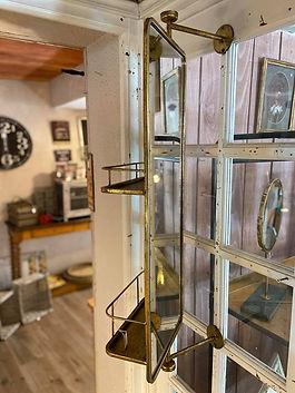 Miroir étagère doré Athezza Forcalquier