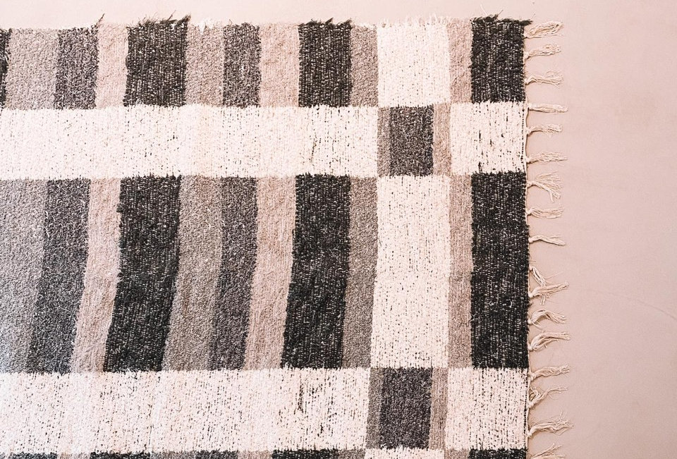Wit/grijs tapijt 60x120cm