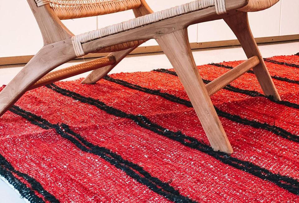 Rood tapijt 140x200cm