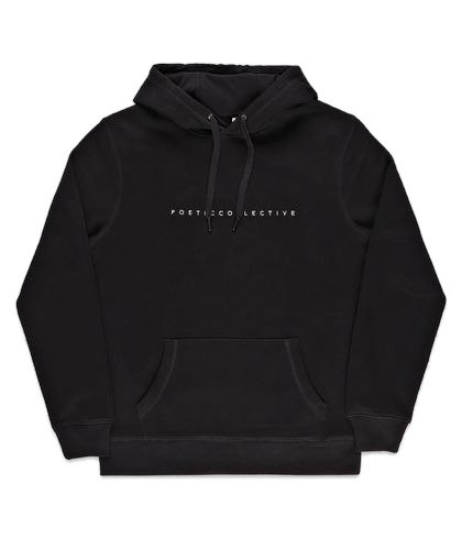 Poetic Collective Flower Hoodie Black