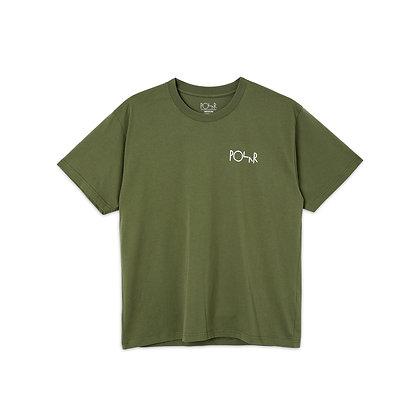 Polar Stroke Logo Tee Uniform Green