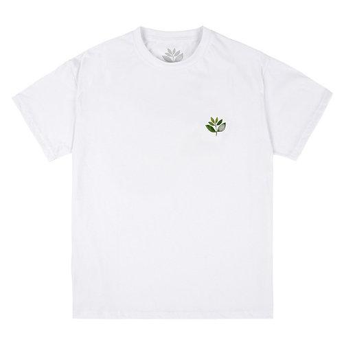Magenta True Leaf Tee White