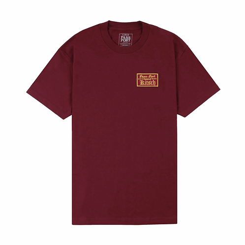 Pass ~ Port Treasury Patch Tee Burgundy
