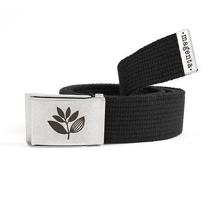 Magenta Buckle Up Belt Black