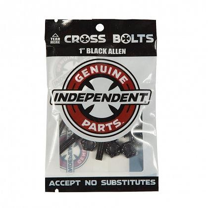 Independent Bolts Allen Black 1 IN