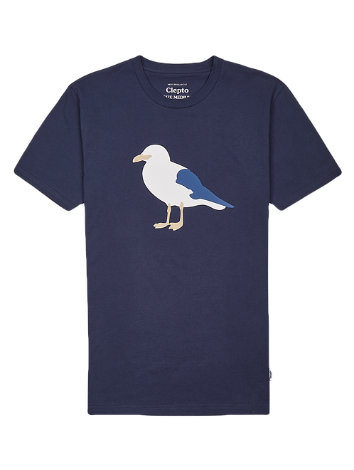 Cleptomanicx Tee Gull 3 Navy