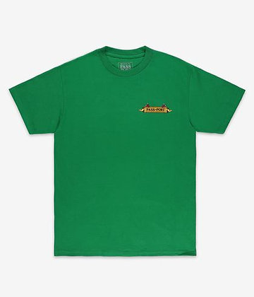 Pass~Port Trickle Down Tee Kelly Green