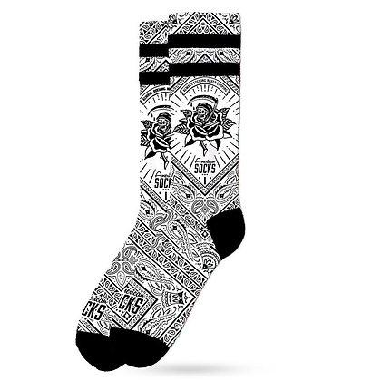 American Socks Signature Bandana White Mid High