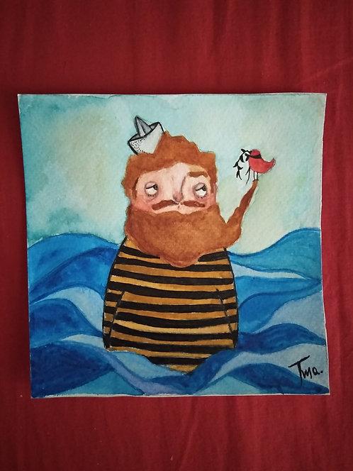 TMA original painting ~Lost in the sea~