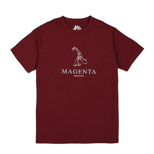 Magenta Depuis 2010 Tee Burgundy