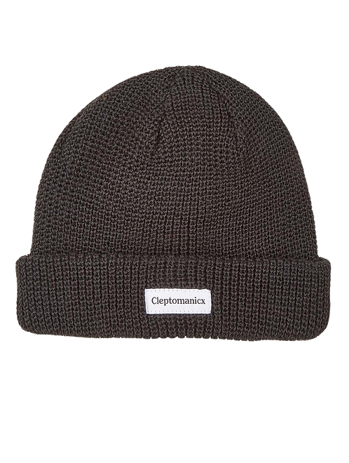 Cleptomanicx Beanie Shortie2 Black