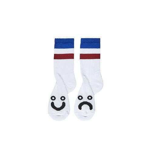 Polar Socks Happy Sad Stripes Blue