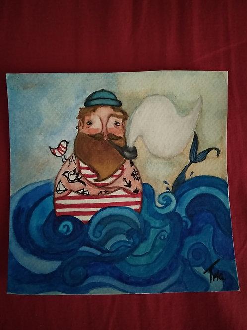 TMA original painting ~Sailor~