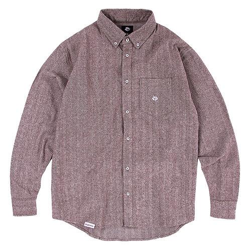 Magenta Shirt Herringbone