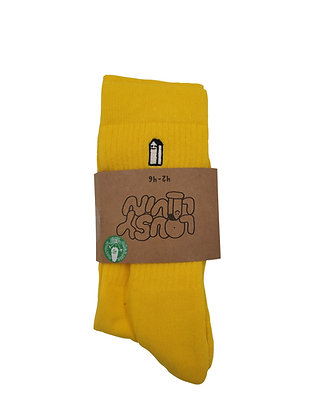 Lousy Livin Street Court Socks Yellow