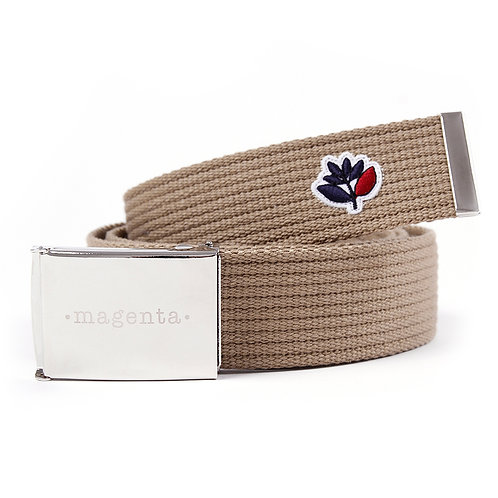 Magenta Clip Belt Beige