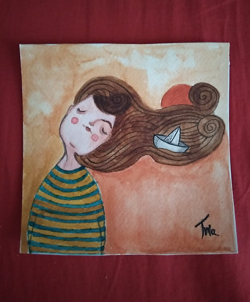TMA original painting ~Warm Summer~