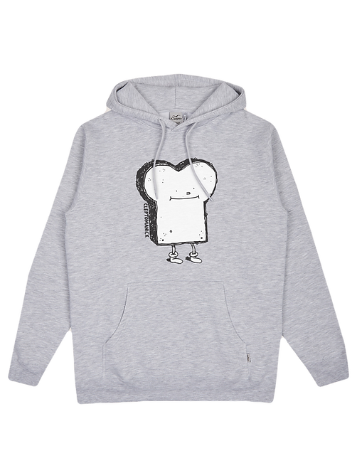 Cleptomanicx Hoodie Toast Light Gray