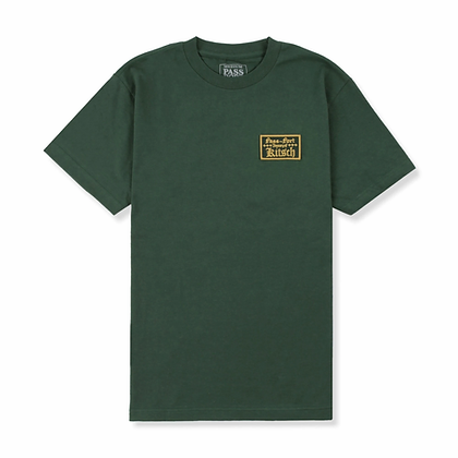 Pass ~ Port Treasury Patch Tee Forest Green