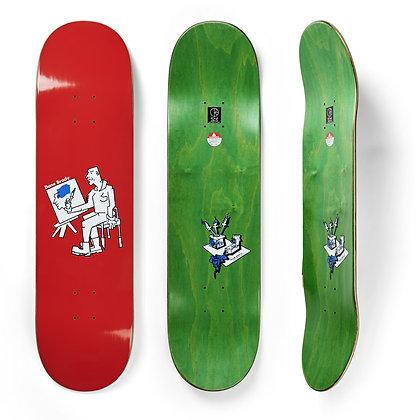"Polar Deck Dane Brady Painter Red 8.375"""
