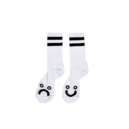 Polar Socks Happy Sad White