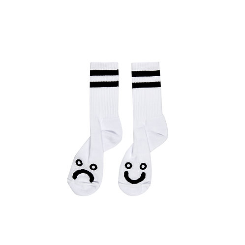 Polar Socks Happy Sad White
