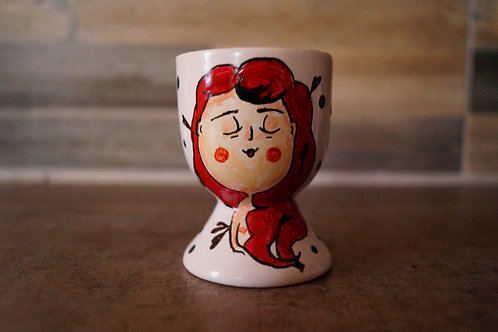TMA Egg Cups `~Rapunzel in red~