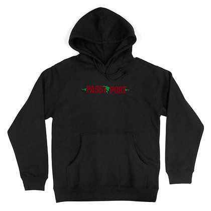Pass ~ Port Life Of Leisure Embroidery Hoodie Black