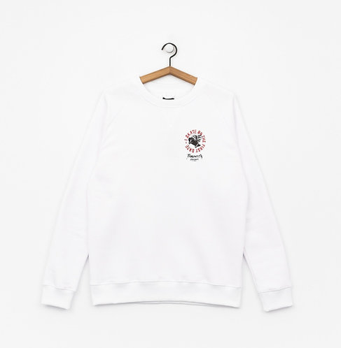 Turbokolor Crewneck First Day White