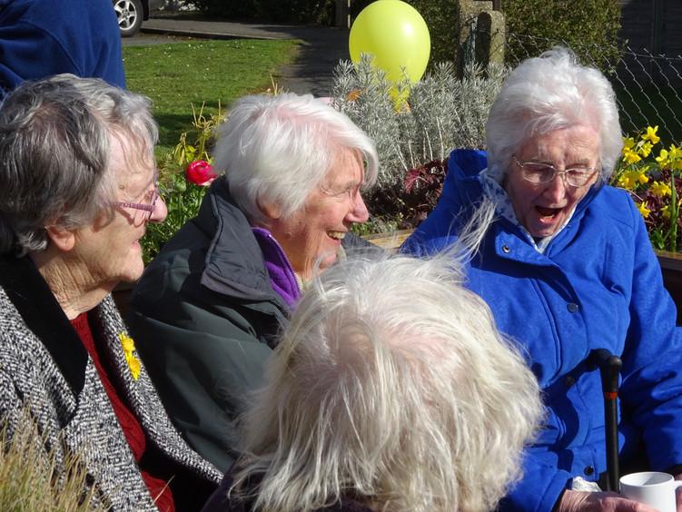 Ladies having fun at The Friendly BenchⓇ