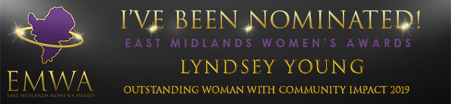 Lyndsey is nominated for the East Midlands Women's Award