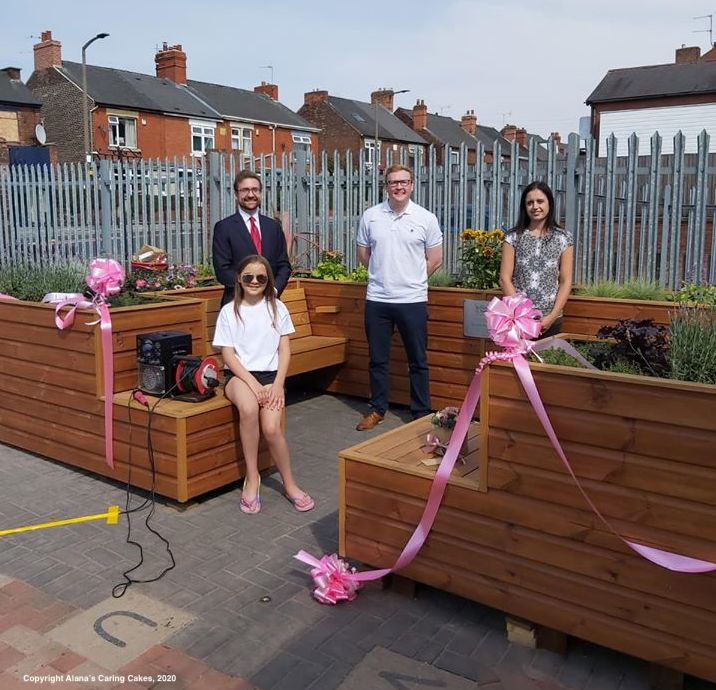 The Friendly Bench™ Kiveton and Wales, Rotherham was officially opened in glorious sunshine by Alexander Stafford MP, accompanied by Councillor Dominic Beck, Assistant Head Teacher and Mental Health Advocate (Wales High School), Charlotte Cooper and  Alana Habergham-Rice of Alana's Caring Cakes.