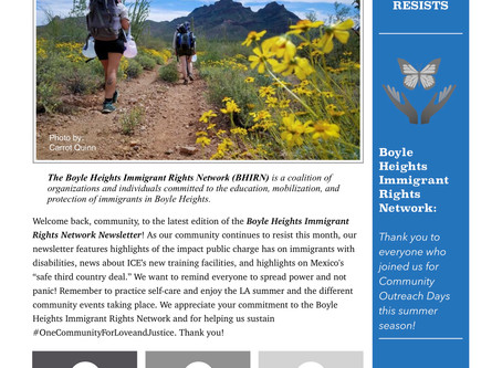 Boyle Heights Immigrant Rights Network Newsletter
