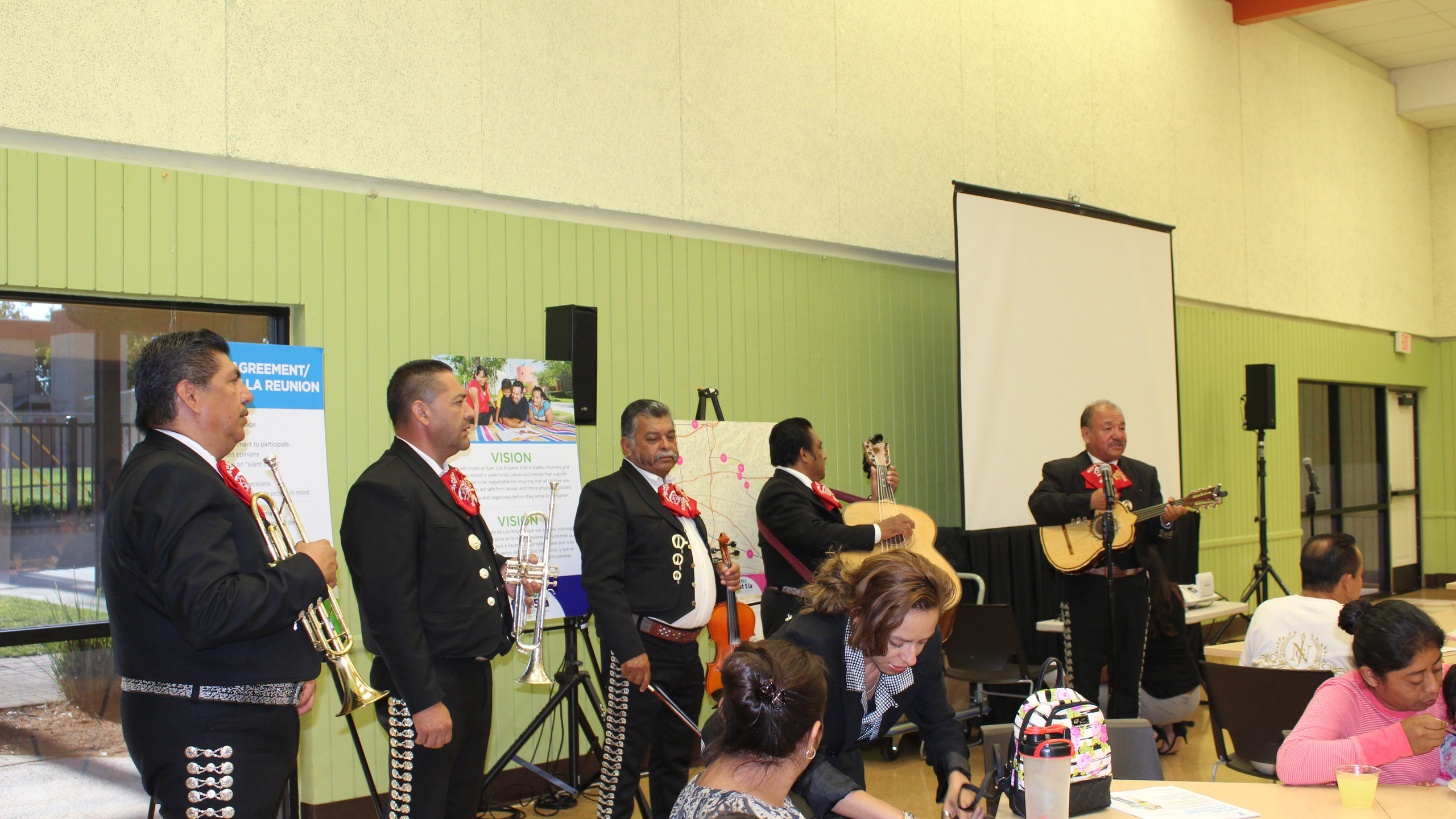 Mariachi helping residents celebrate the launch