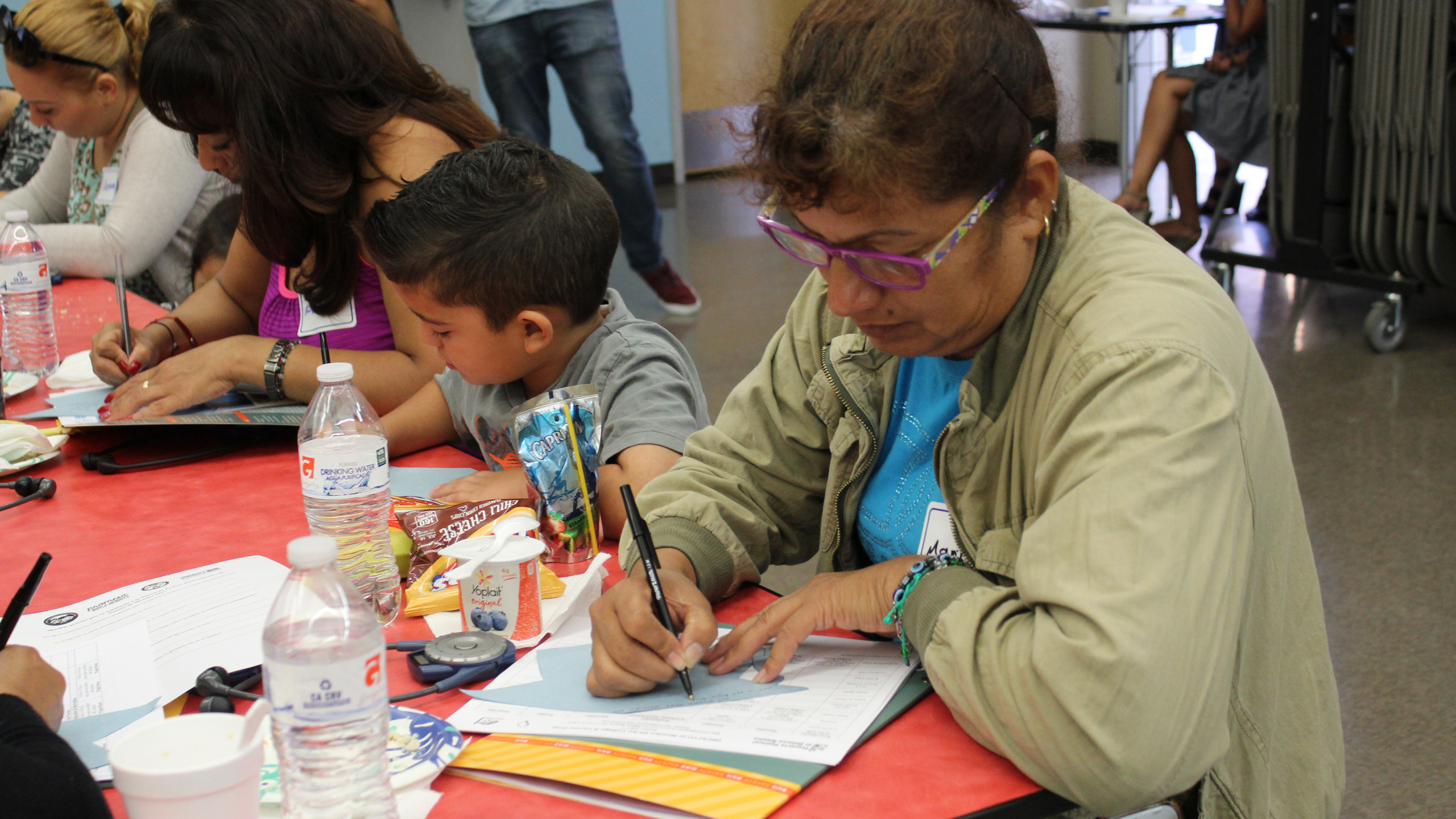 Parents and students hare their dreams for the future.