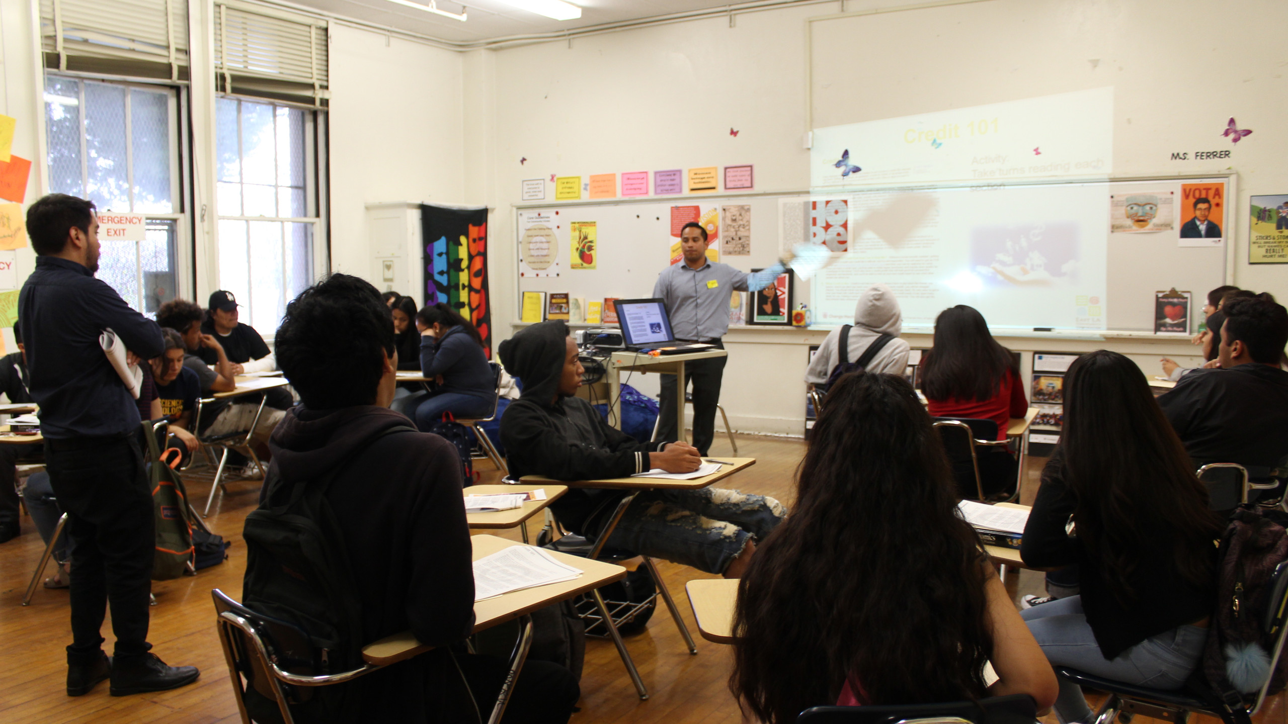 Students learn to manage their money in Budgeting 101 workshop.