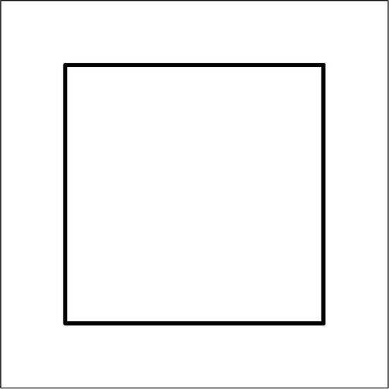 Square Acrylic 100 x 100cm
