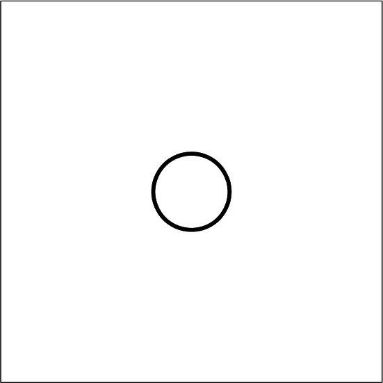 Circular Acrylic 30cm diameter