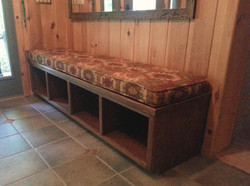 Stained Maple Mudroom Bench