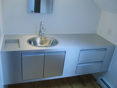 Brushed Aluminum Vanity