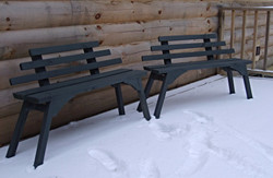 Reclaimed Pine Outdoor Benches