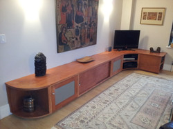Maple Media Center with Cherry Stain