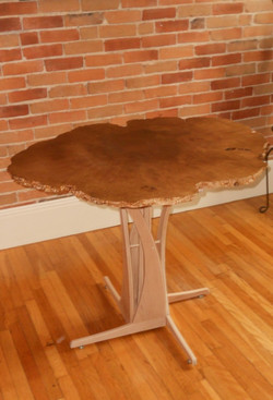 Maple Burl Cafe Table