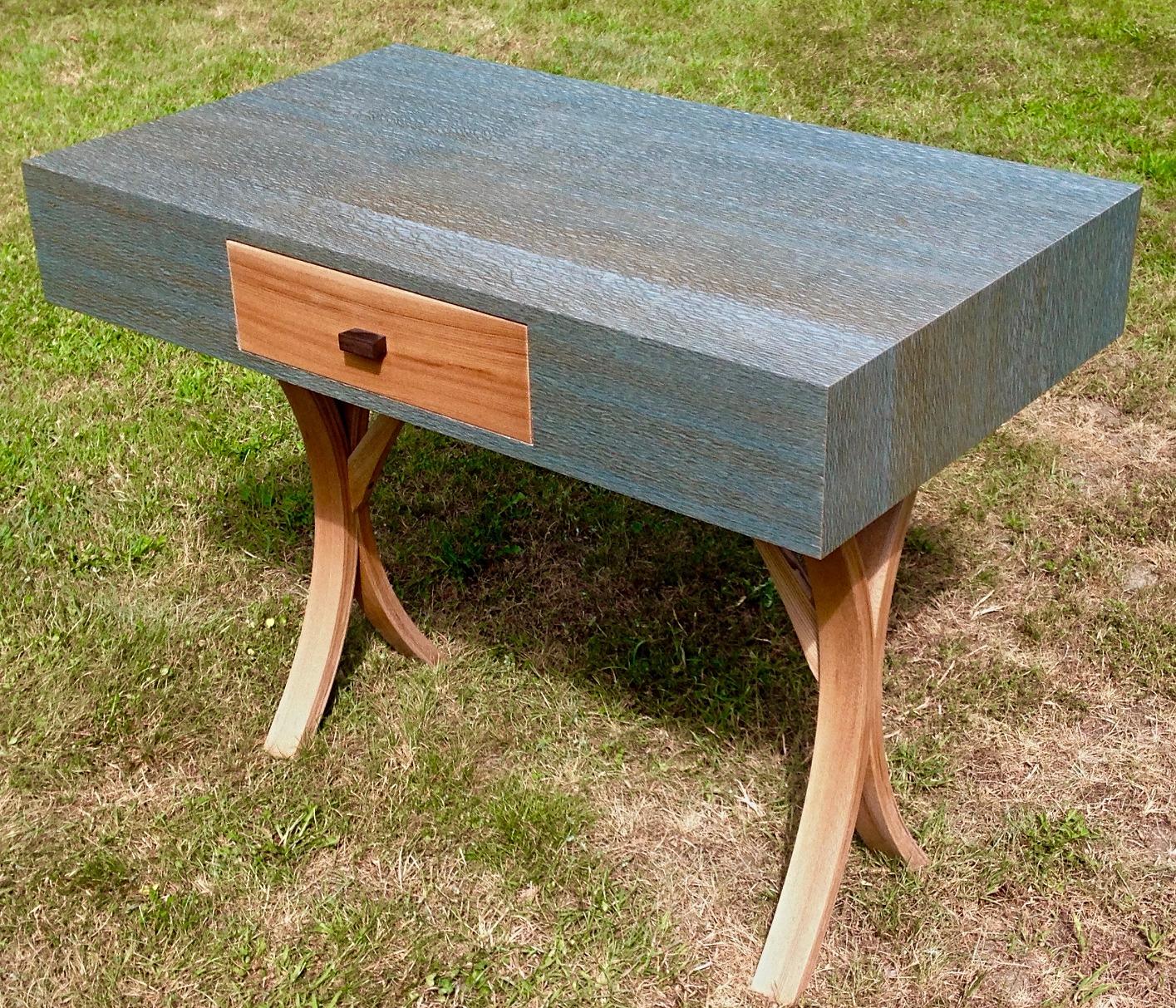 Lacewood & Chestnut Console Desk