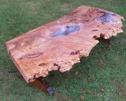 Maple Burl Coffee Table