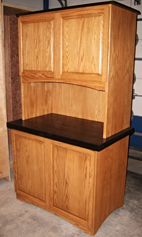 Red Oak Kitchen Hutch